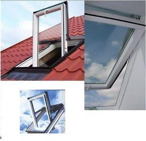 Kunststoff dachfenster skylight premium 55x98 eindeckrahmen rollo ebay - Dachfenster skylight ...