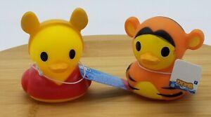 Winnie the Pooh and Tigger Disney Duckz Rubber Duck Bath Toy Lot NWT 2021