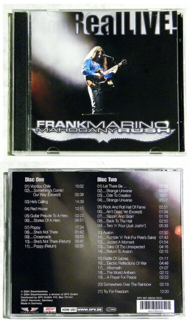 FRANK MARINO & MAHOGANY RUSH Real LIVE! . 2004 Steamhammer DO-CD TOP