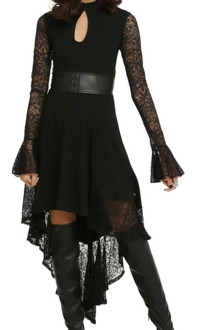 ROYAL BONES TRIPP GOTHIC WICCAN LACE DRESS VAMPIRE GOWN NWT SZ MD