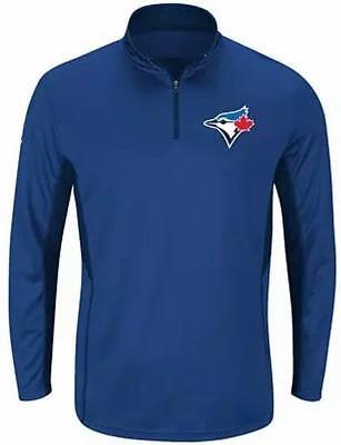 Baseball & Softball Neu Lizenziert Toronto Blau Jays Herren 1/4 Zip Wind Jacke Größe 2xlt ___ S08