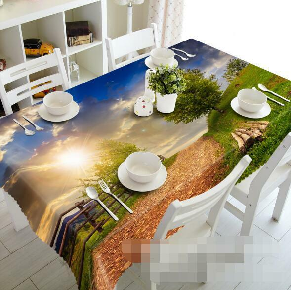3D Field sun73 Tablecloth Table Cover Cloth Birthday Party Event AJ WALLPAPER UK
