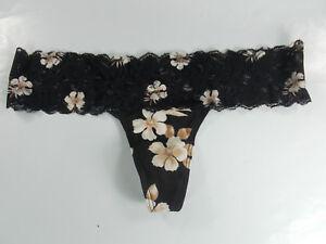 54b6b65280b Details about NWT Victoria s Secret PINK Collection Floral Lace Trim Thong  Panty