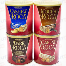 4-Pack Roca Almond Cashew Mocha Dark Brown & Haley Buttercrunch Toffee Candy NEW