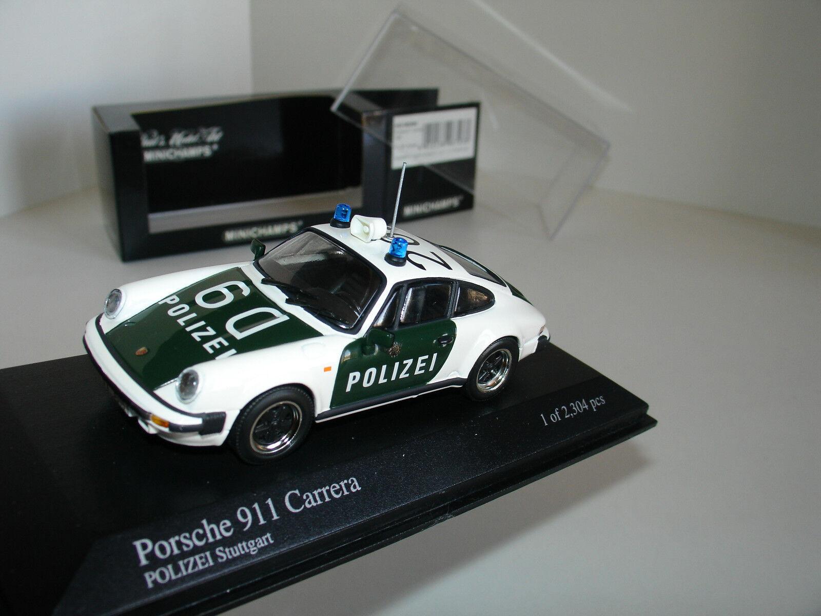 1 43 PORSCHE 911 CARRERA 1983 POLIZEI STUTTGART by MINICHAMPS