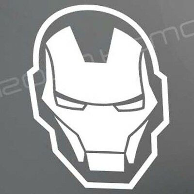 IRON MAN sticker decal helmet Avengers Tony Stark Industries