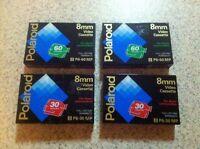 4 Polaroid 8mm: 2-30mins & 2-90mins Cassette Tape Sealed; P6-60mp P6-30mp (h)