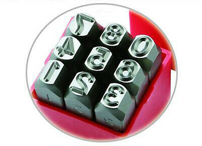 """9PC 5//64"""" 2mm Steel Number Stamps Punch Dies Set New Free Shipping"""