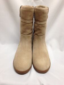 6fa1d426cbc77 Image is loading Tory-Burch-Alana-Genuine-Shearling-Boot-light-camel-