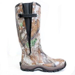 Dirt-Boot-Neoprene-Rubber-Wellington-Muck-Boot-Pro-Sport-Hunt-Zip-Camo