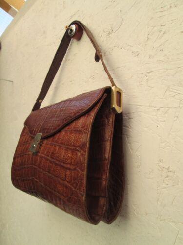 Sac Esteve Magnifique En Main Bag Véritable Vintage Croco Tbeg À pdxqwR
