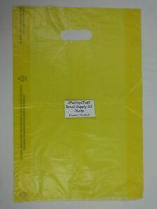 200-Qty-12-x-3-x-18-Yellow-High-Density-Plastic-Merchandise-Bag-w-Handle