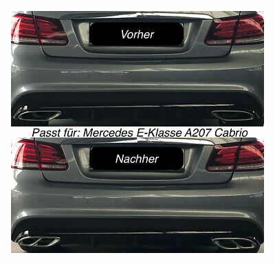 Top Chrom Edelstahl Auspuffblende Für Mercedes E-klasse A207 Cabrio (205