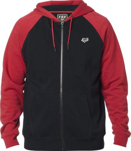 Fox Racing Legacy Mens Zip Up Hoody Red//Black
