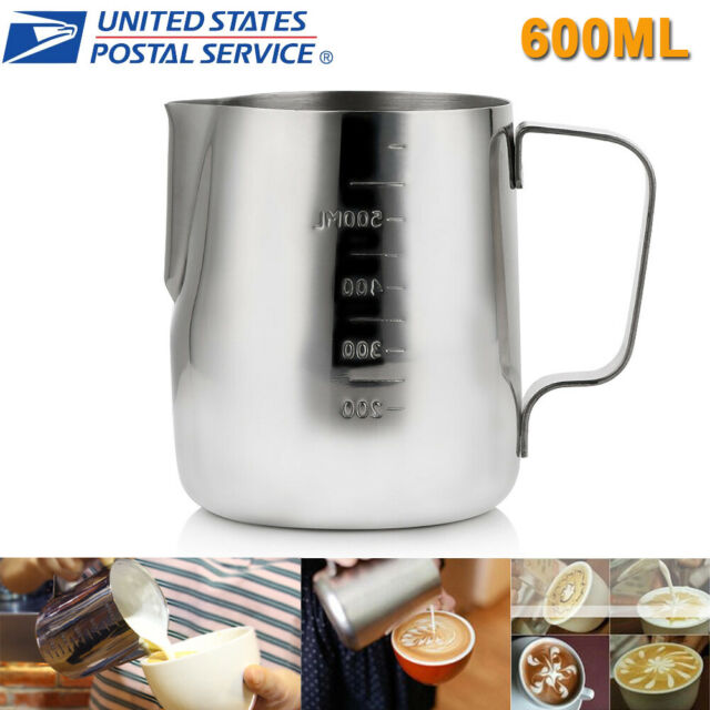 Milk Coffee Latte Tea Mug Jug Frothing Art Pitcher Tea Cup Kitchen Tool 600ML