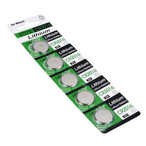 5X-CR2016-3V-Batteries-CR-2016-DL2016-ECR2016-3V-Coin-Cell-Bouton-Batterie-Pack