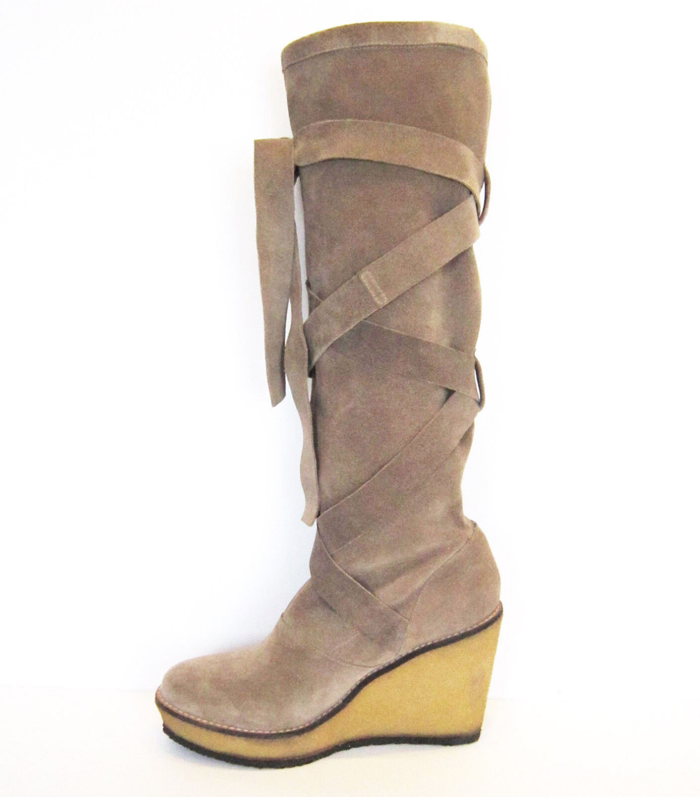 Robert Clergerie Suede Slouch Boots Boots Boots Size UK 6.5 1c4e46