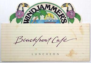 1984 Menu South Padre Island Hilton Resort Windjammer's BEACHFRONT CAFE Texas