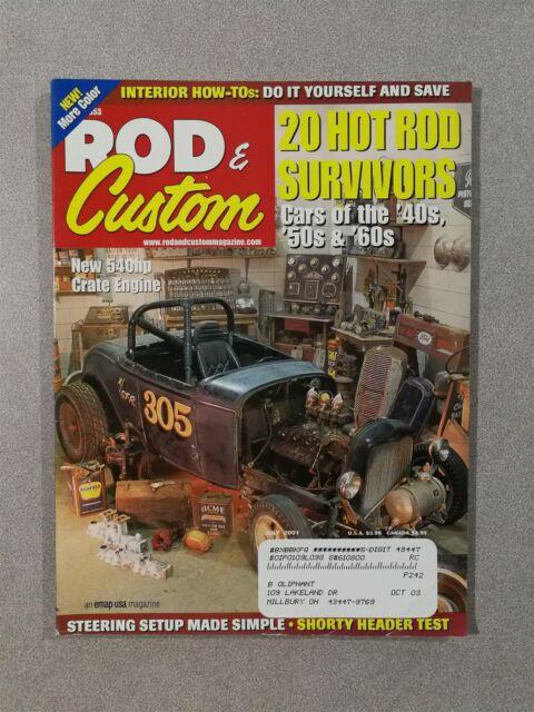 Rod & Custom July 2001 20 Hot Rod Survivors -  1954 Corvette - 1933 WIllys 77