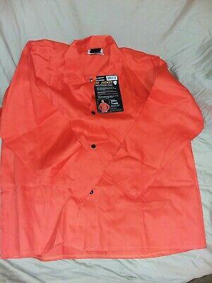 "Orange 2XL Tillman 6230D Hi-Vis FR Cotton Welding Jacket 30/"" 9 oz"