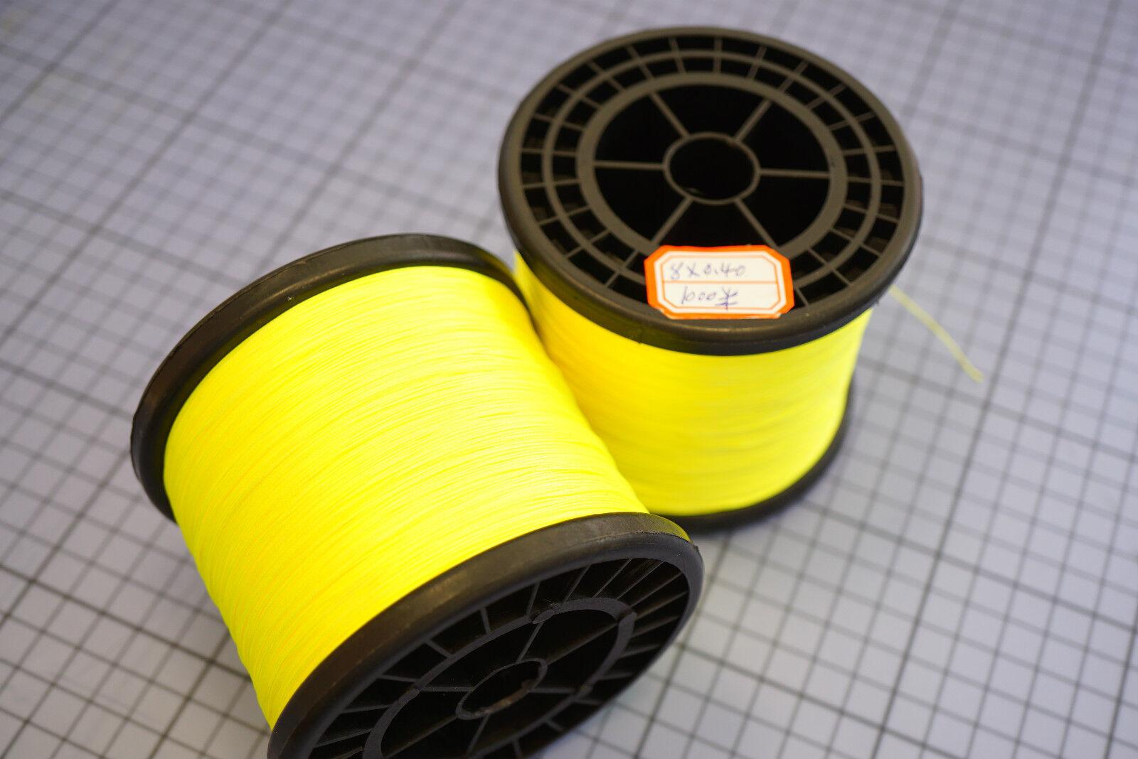 Super Spectra Backing 1000 Meter Spule Tragkraft 35KG Ø 0,37mm fluo gelb
