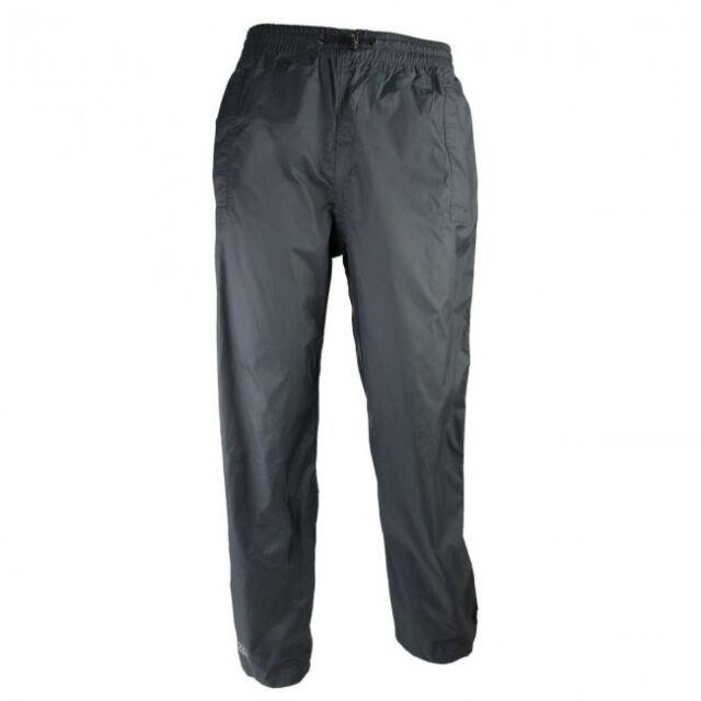 Highlander Stow & Go Waterproof Windproof Breathable Pack Away Trousers Charcoal