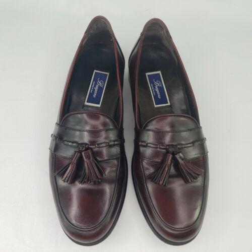 Bragano Men Tassel Loafers Size 11.5 M Burgundy C0
