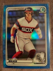 2020-Bowman-Chrome-Steele-Walker-Chicago-White-Sox-True-Blue-Prospect-Ref-150