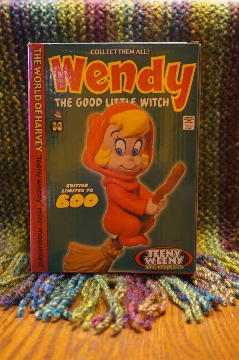 ELECTRIC TIKI Harvey Comics WENDY The GOOD WITCH MINI-STATUE Figure MAQUETTE MIB