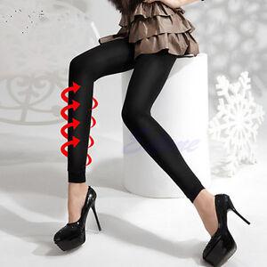 Image is loading Women-Black-Slim-Beauty-Leg-Shape-Compression-Burn- 48d6ca66a68c