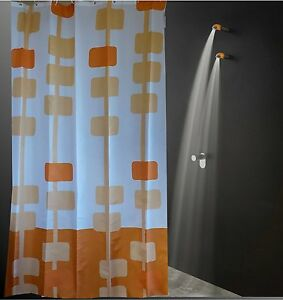 Clearance pendant salmon colored square art shower curtain 2m free shipping
