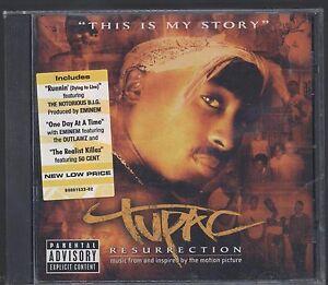 RARE-TUPAC-RESURRECTION-CD-SOUNDTRACK-2003-NEW-SEALED-2PAC-RAP-HIP-HOP-SOUL-R-B