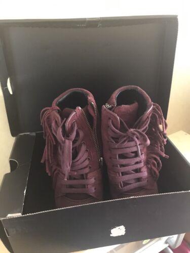 The 37 taglia in pelle Kooples scamosciata marrone Sneakers con Fringe Authentic scatola 6x76rAwq