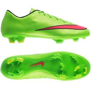 Múltiple Mierda Típico  Nike Mercurial Victory IV FG 2014 Soccer SHOES Brand New Neon Green / Red    eBay