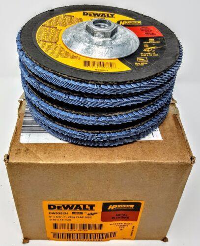 "5-PK DEWALT DW8382H 6/"" X 5//8/""-11 T29 Z80 GRIT FLAP DISCS"
