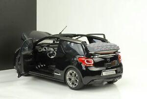 2012-citroen-ds3-Cabriolet-Convertible-negro-metalico-1-18-norev-Dealer
