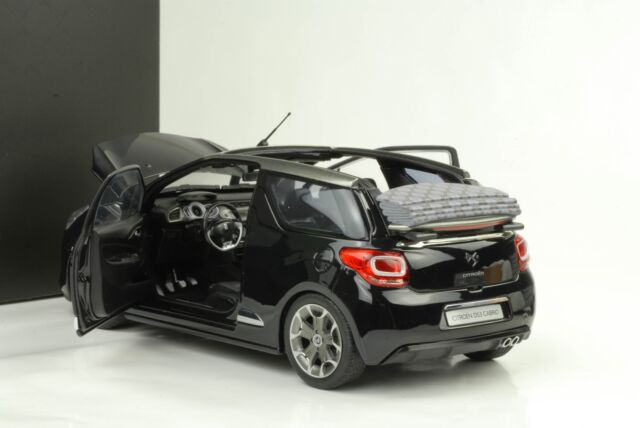 1 18 citroen ds3 cabrio convertible 2012 black norev model. Black Bedroom Furniture Sets. Home Design Ideas