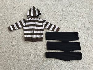4-piece-lot-of-Girls-clothes-size-4-6-hoodie-leggings-EUC