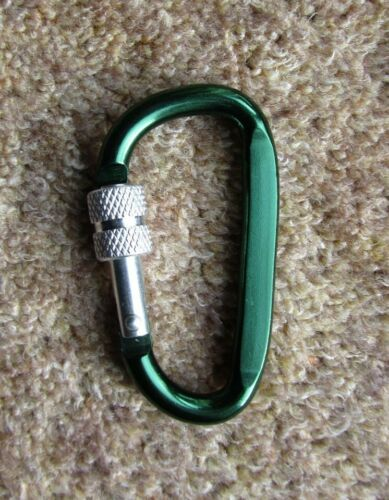 Secure keys Green Screwgate Karabiner attach items Pack of two