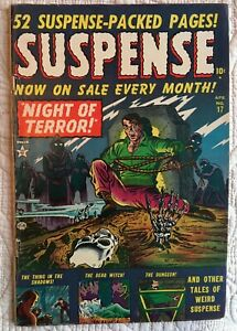 GOLDEN-Age-SUSPENSE-17-Pre-Code-HORROR-VG-VG-3-5-1952-Bondage-Cover