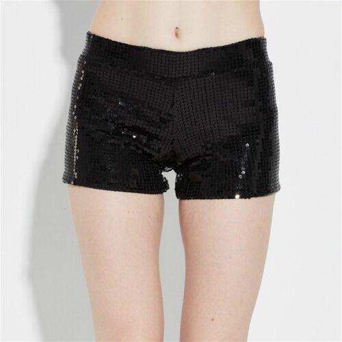 Le donne con Lustrini Mini Shorts Dance Party Lucido Hot Pants Brillantini SLIM FIT Costumi