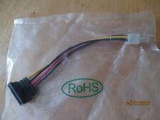 Serial ATA Hard Drive SATA Power Cable to ATX 4 Pin Connector Adapter - US Ship