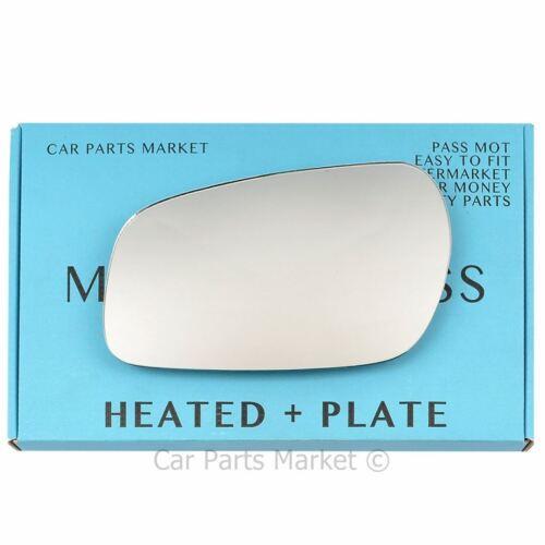 plate Left Passenger side Flat Wing mirror glass for Citroen Xsara 1997-02 heat