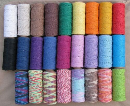 3 Spools x 205 ft 1mm Hemp Cord ~Colors Twine~Craft Limited colors