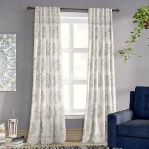 Stephany Nature Floral Room Darkening Rod Pocket Curtain Panels Set Of 2 848742062463 Ebay