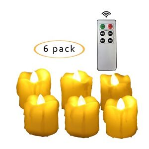 Flameless-Flicker-LED-Battery-Operated-Votive-Candles-w-Remote-and-Timer-6-Pack