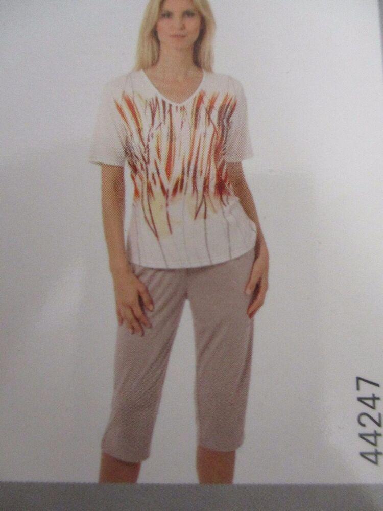 GéNéReuse Hajo Manches Courtes Pyjama/pyjama Avec Corsaire, Ray Variable., Taille 36/38 + 40/42 Neuf Demande DéPassant L'Offre