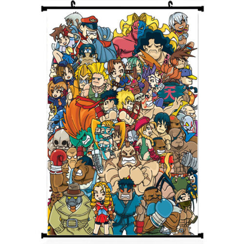 "Street Fighter 5 Game Silk Poster Wall Scroll 11.5x20/"" 22.5x36/"" Ryu Chun Li 001"