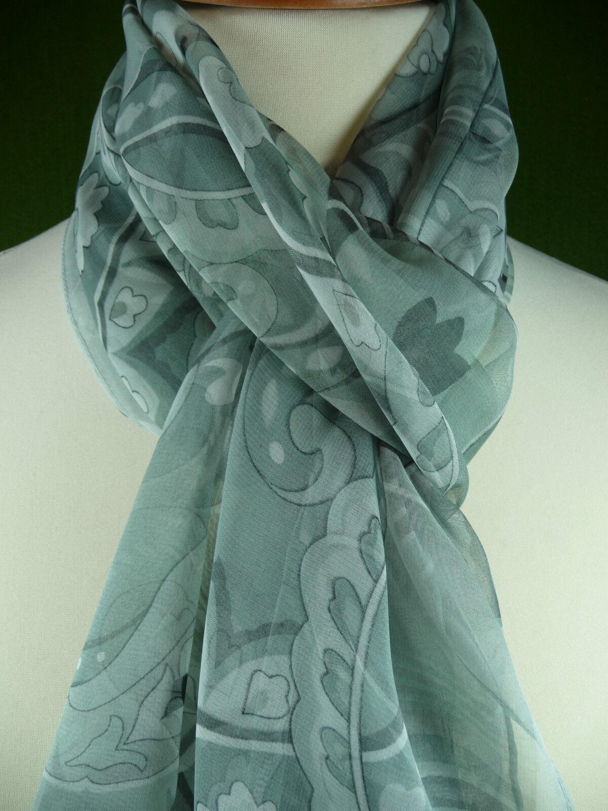 Seidenschal 170 cm   Marlene      Grautöne FLORAL Tuch Seidentuch Scarf Foulard | Elegante Form  | Elegant und feierlich  | Elegantes und robustes Menü  d2bf15
