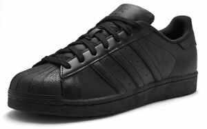 Details about ADIDAS ORIGINALS SUPERSTAR TRAINERS ALL BLACK UK SIZES 7 TO 13